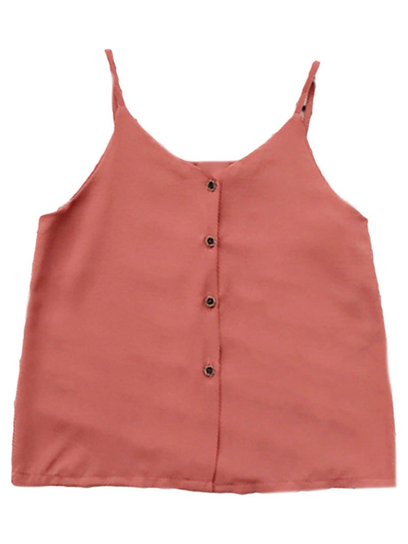'Patricia' Button Front Cropped Cami Top (5 Colors)