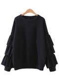 'Monet' Ruffle Long Sleeve Sweater
