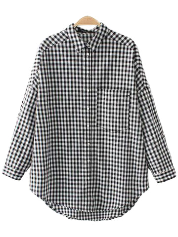'Klava' Checked Mock Layer Shirt