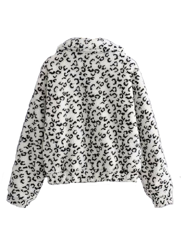 'Savannah' Leopard Print Fleece Pullover