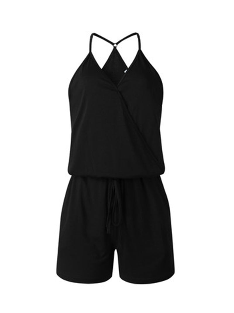 'Carrie' Wrap Comfy Tied Romper (4 Colors)