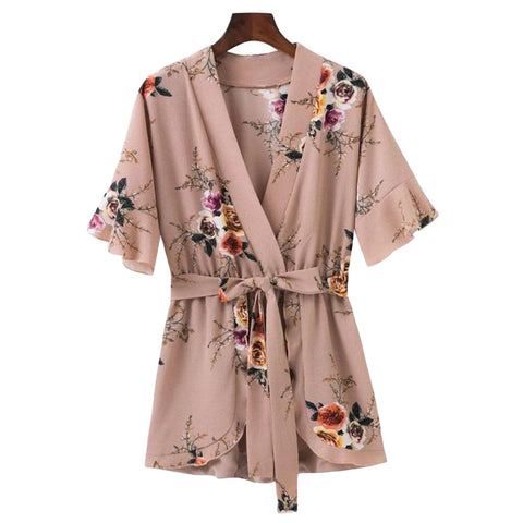 'Livvy' Pink Floral Romper - Goodnight Macaroon