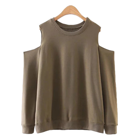 'Sian' Olive Off-The-Shoulder Top - Goodnight Macaroon