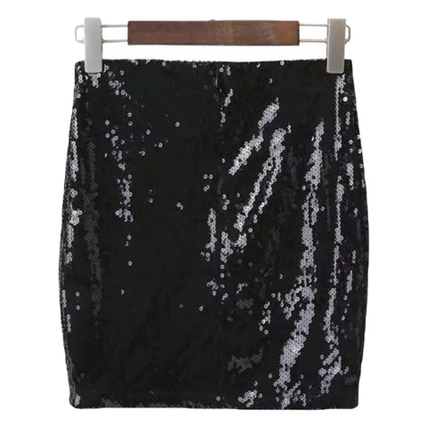 'Lexie' Shiny Sequin Skirt - Goodnight Macaroon