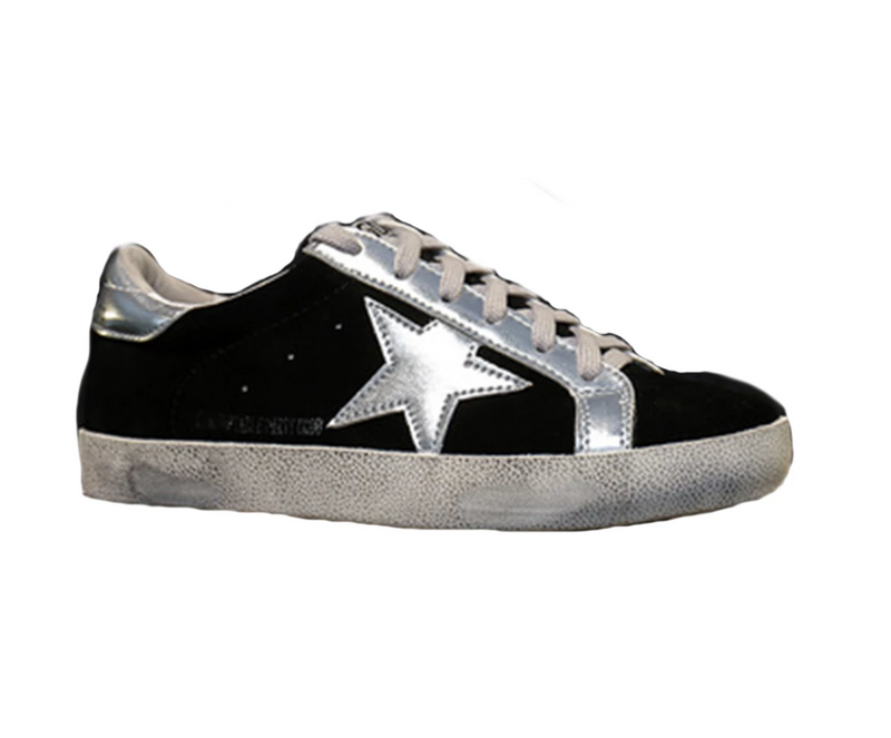 'Vanessa' Sequinned Star distressed Sneakers (6 Colors)