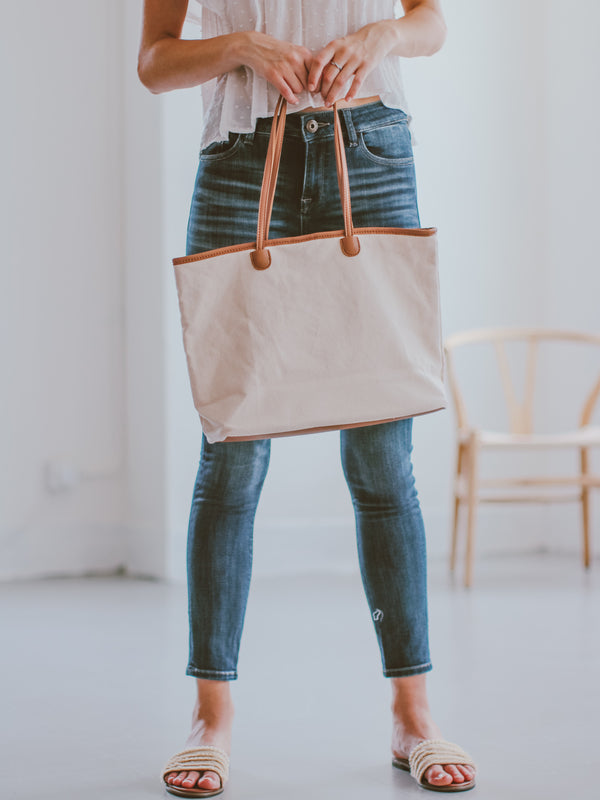 'Sherley' Two-tone Tote Bag (2 Colors)