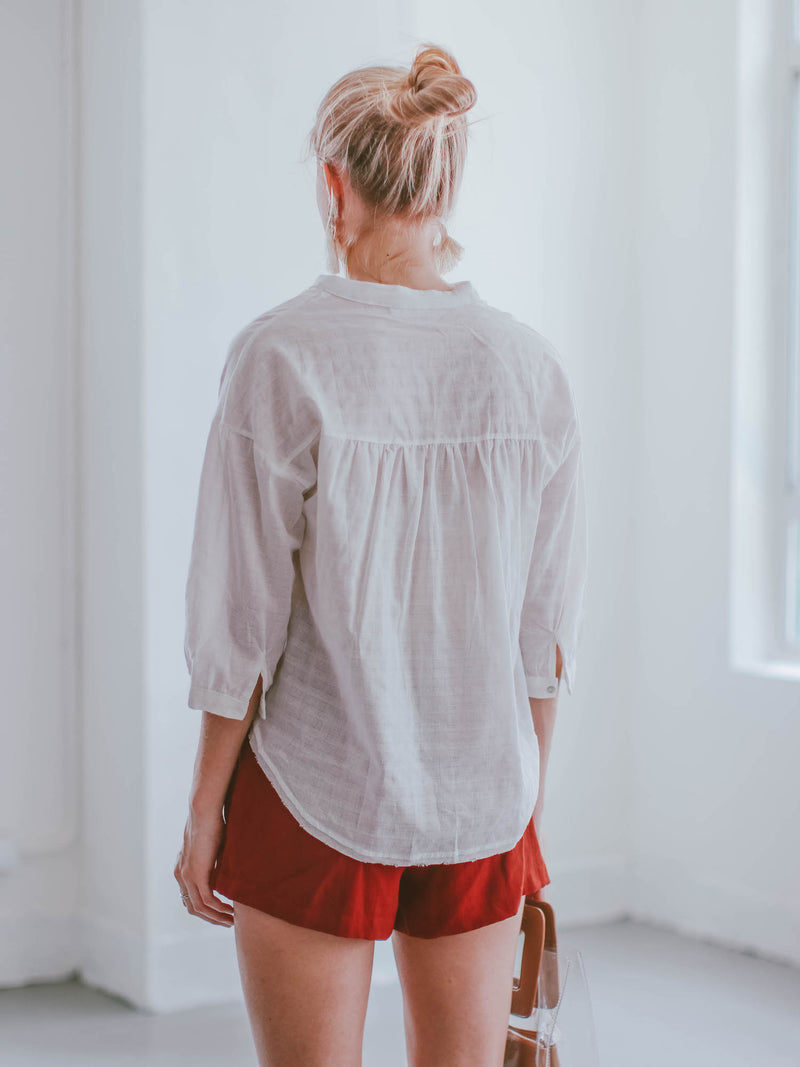 'Lina' Linen Tied Shorts
