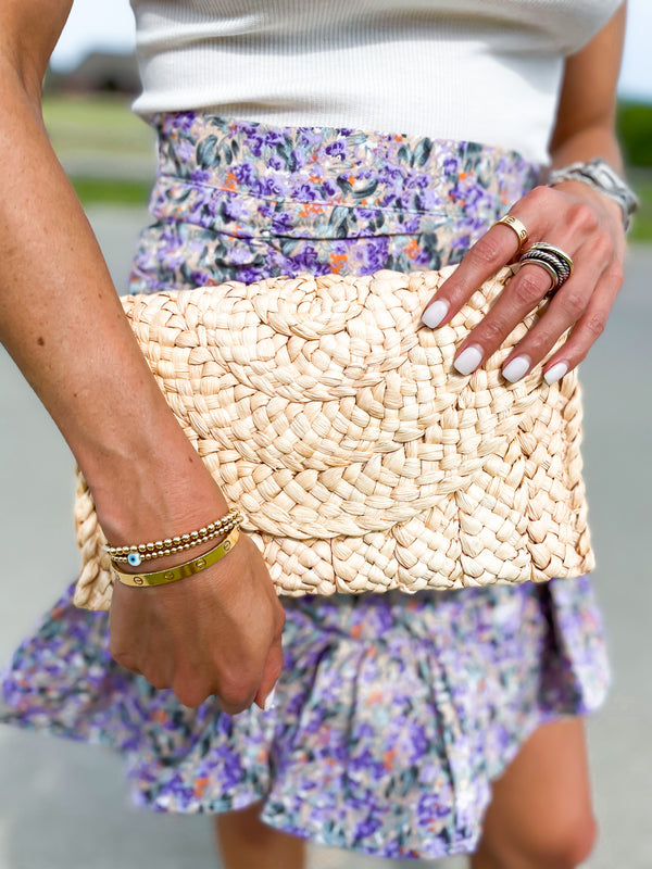 'Esther' Rattan Clutch