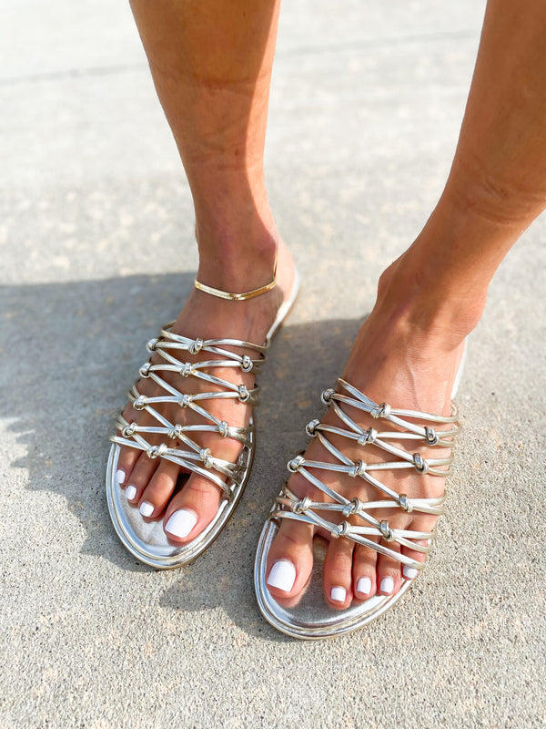 'Chloe' Knotted Straps Sandals