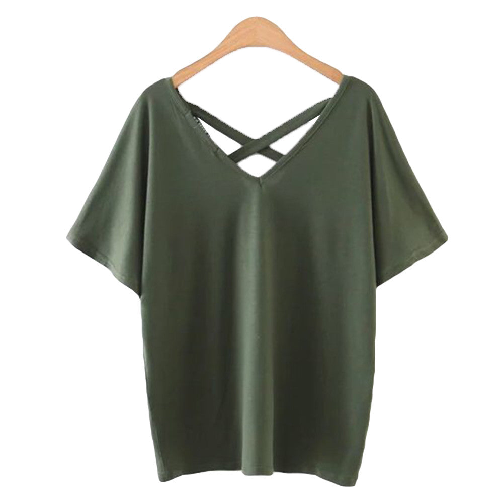 'Jackie' Green Back Criss Cross Top - Goodnight Macaroon