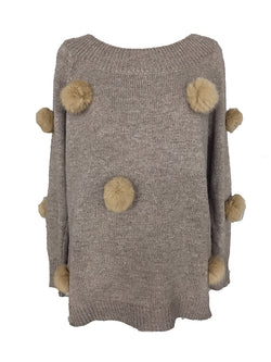 'Celia' Pom Pom Sweater (2 Colors)