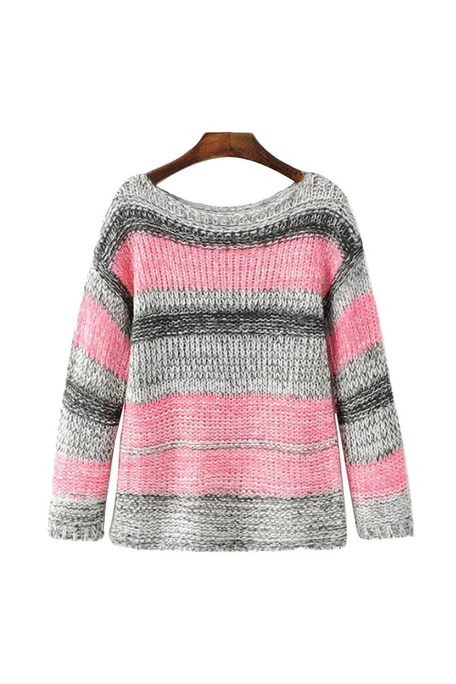 'Karla' Color Twist Knitted Sweater from Goodnight Macaroon
