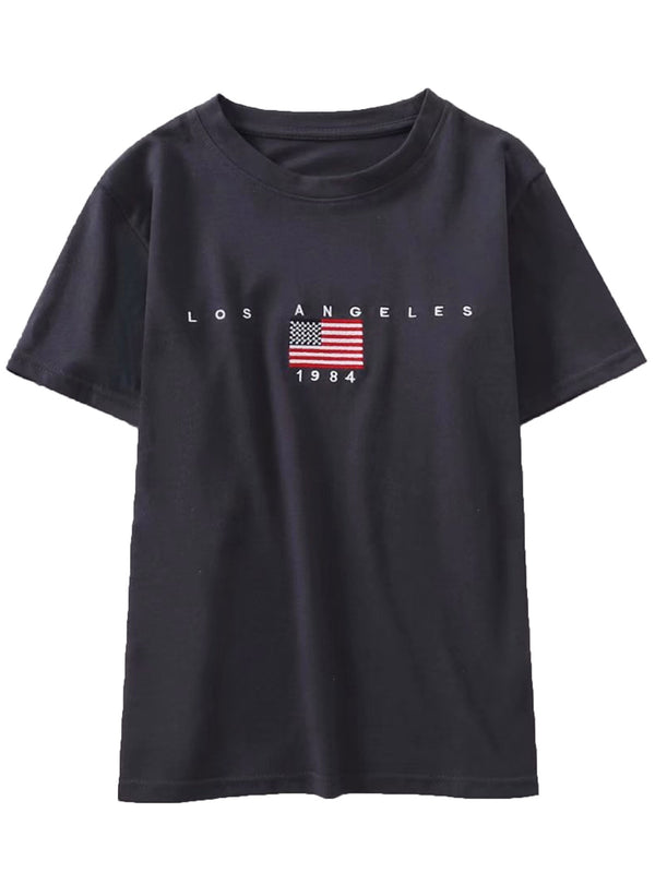 'Los Angeles' Crew Neck Fitted T-shirt (2 Colors)