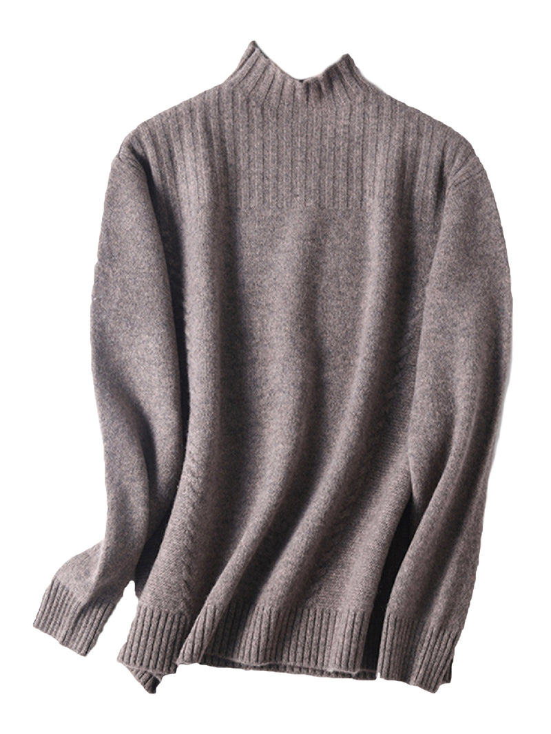 'Cayla' Cashmere Mock Neck Sweater (6 Colors)