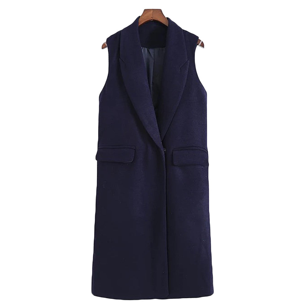 'Anabel' Sleeveless Wrap Coat
