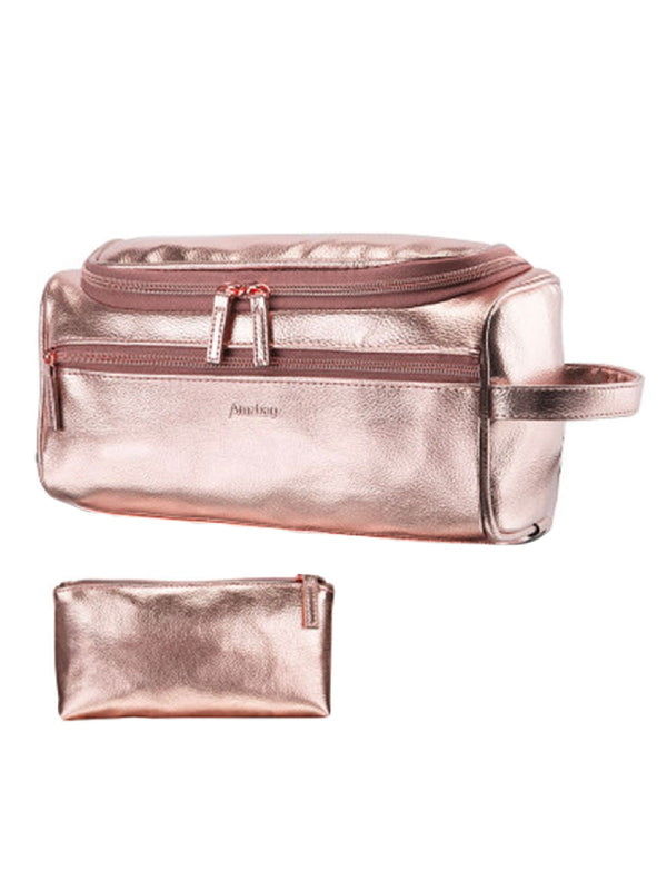 'Margaret' Rose Gold Travel Pouch