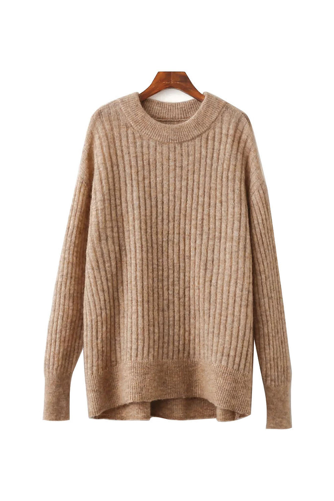 'Mia' Oversized Knitted Crewneck Sweater from Goodnight Macaroon