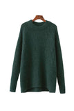 'Mia' Oversized Knitted Crewneck Sweater - Goodnight Macaroon