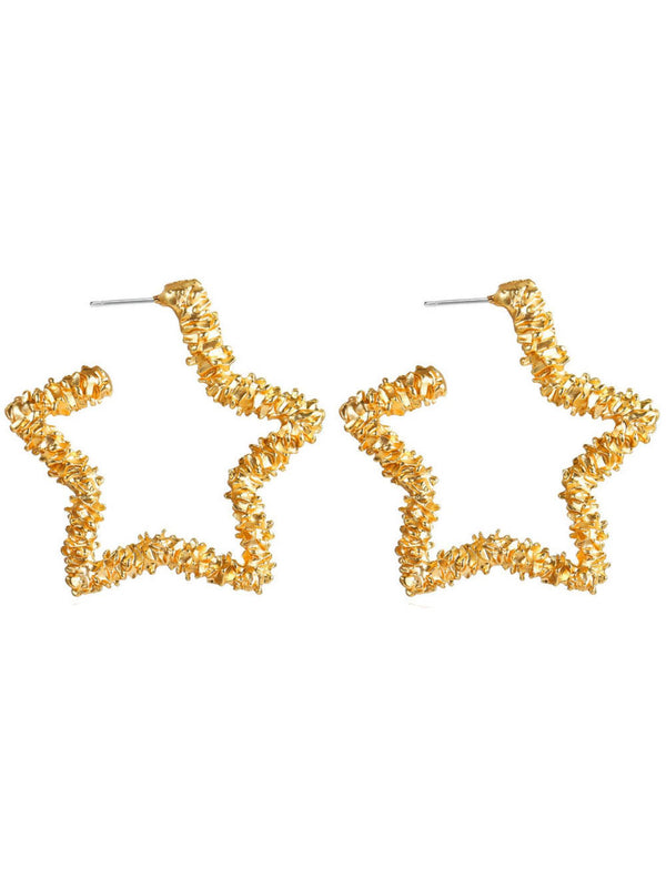 'Opal' Gold Star Stud Earrings