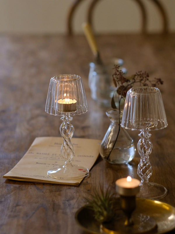 'Eliza' Glass Candle Holder