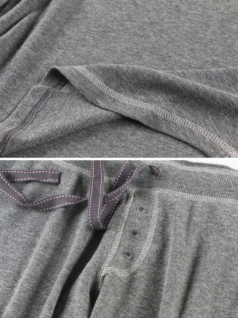 'Zoe' Grey Round Neck Long Sleeves PJ Co-ord