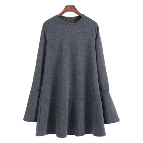 'Pamela' Heather Gray Mock Layer Top