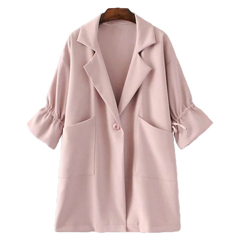 'Carrie' Pink Jacket - Front - Goodnight Macaroon