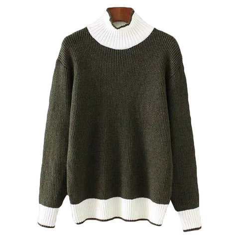 'Ruby' Turtleneck Sweater - Green - Goodnight Macaroon