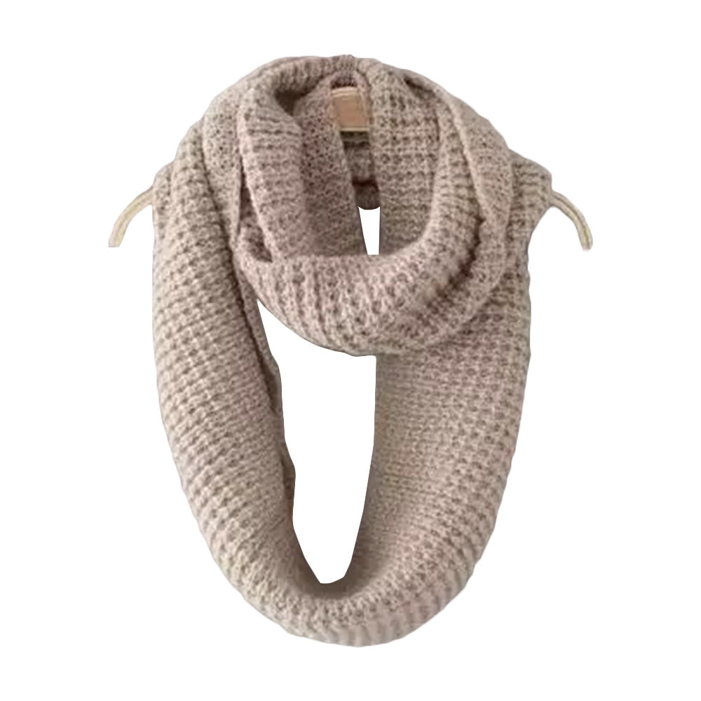 'Sindy' Ribbed Knit Scarf - Beige - Goodnight Macaroon
