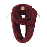 'Sindy' Ribbed Knit Scarf - Maroon - Goodnight Macaroon