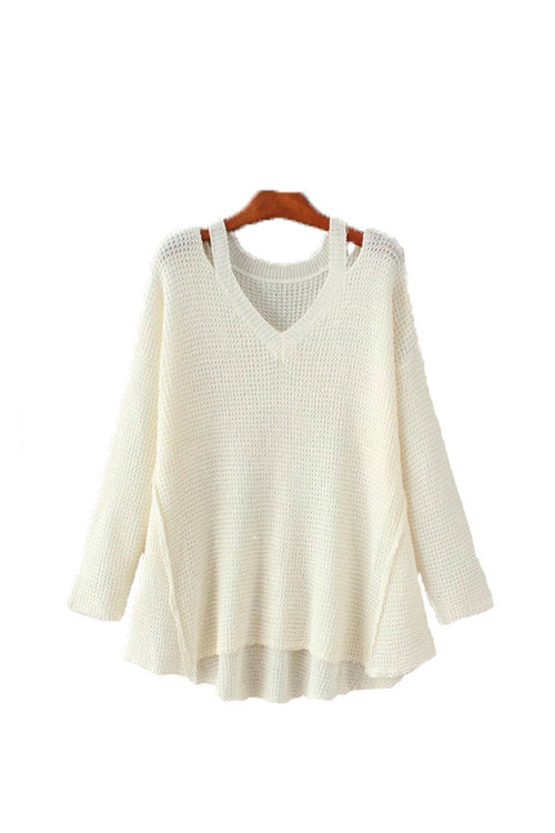 'Reed' Halter Cutout Sweater