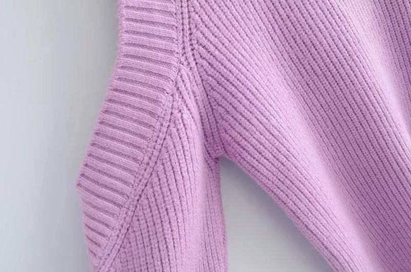 Goodnight Macaroon 'Kathi' Cut-Out Shoulder Crewneck Sweater Pink Cut Out Shoulder