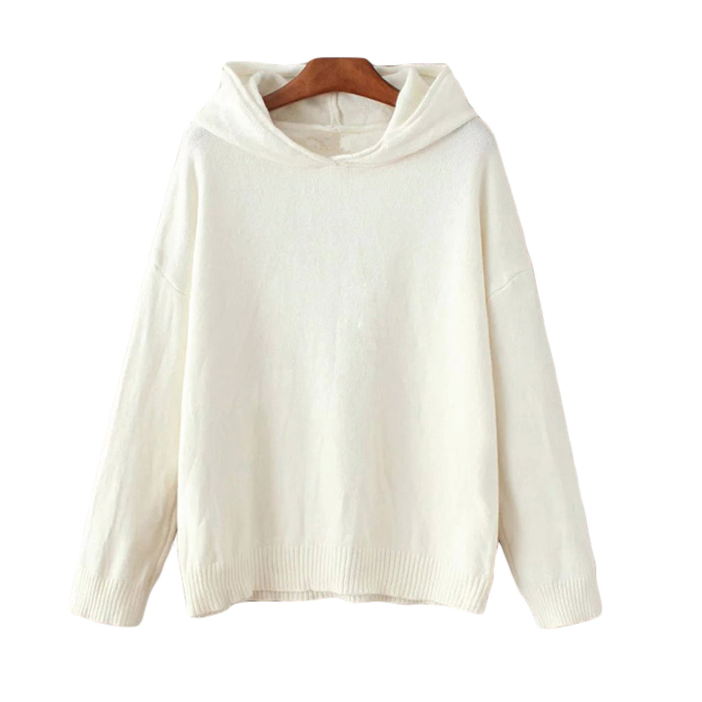 'Bernadette' Hooded Sweater White Goodnight Macaroon