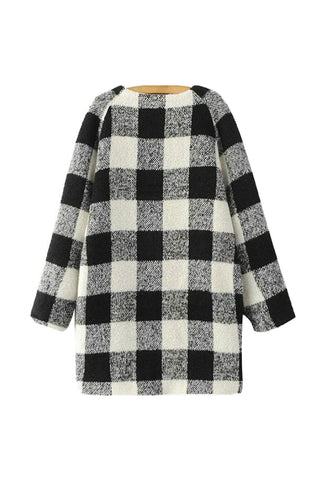 'Isobel' Plaid Woollen Pea Coat from Goodnight Macaroon