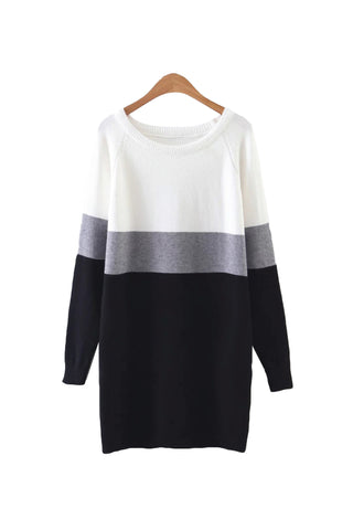 'Lollipop' Color Block Crewneck Sweater from Goodnight Macaroon