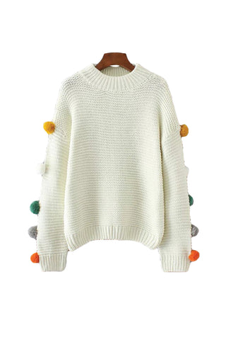 'Bettina' Pom Pom Crewneck Sweater from Goodnight Macaroon