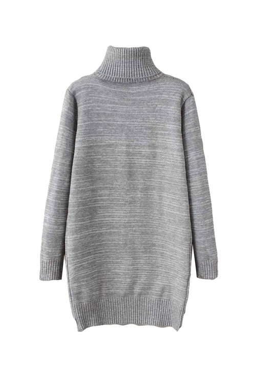 'Lena' Turtleneck Long Sleeved Pullover Gray Back from Goodnight Macaroon