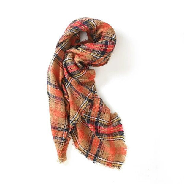 'Anne' Red Plaid Scarf - Goodnight Macaroon