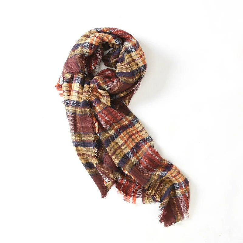 'Casa' Plaid Blanket Scarf