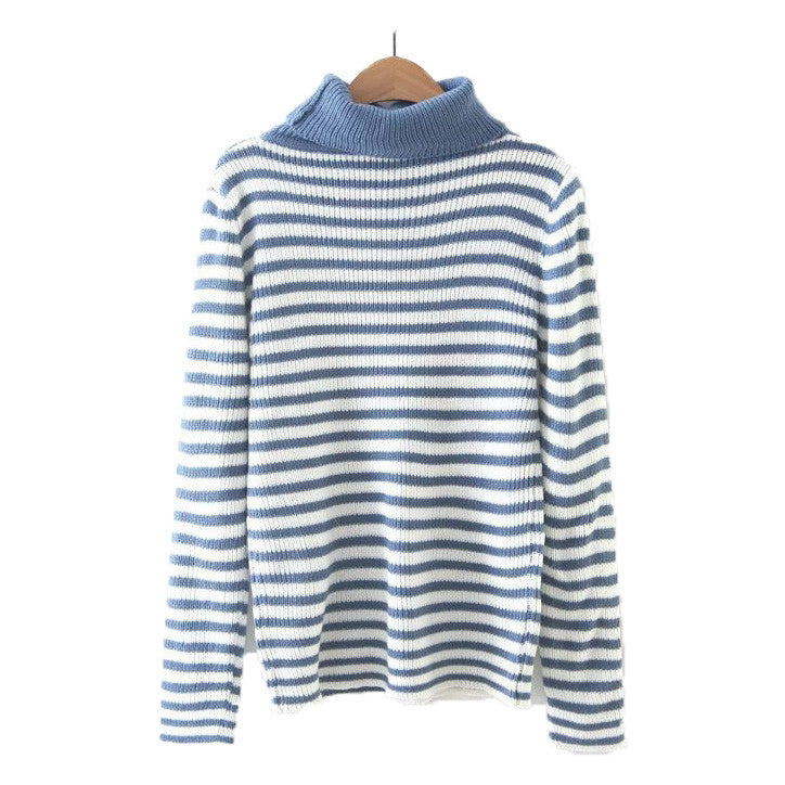 'Grace' Stripe Turtleneck Sweater - 3 colors