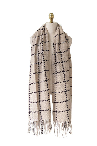'Edina' Plaid Scarf