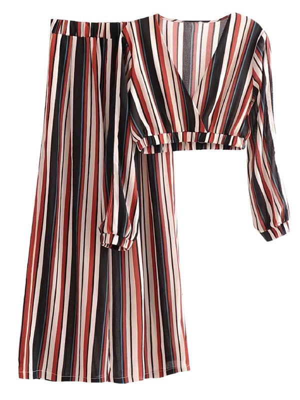 'Sienna' Striped Two Piece Set (2 Colors)