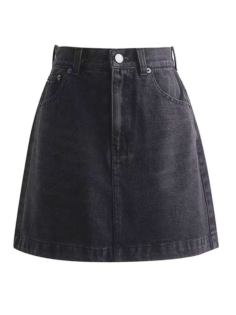 'Julie' High Waisted Denim Mini Skirt (2 Colors)