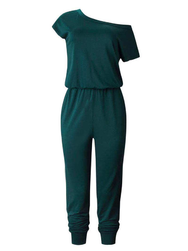 'Beatrice' Cotton Off The Shoulder Jumpsuit (6 Colors)