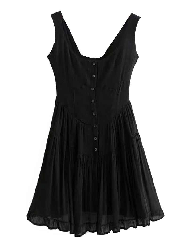 'Swing' Cotton Button Down Dress (2 Colors)