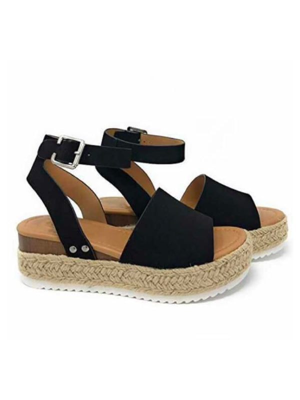 'Stephanie' Strapped Platform Espadrille Sandals (4 Colors)