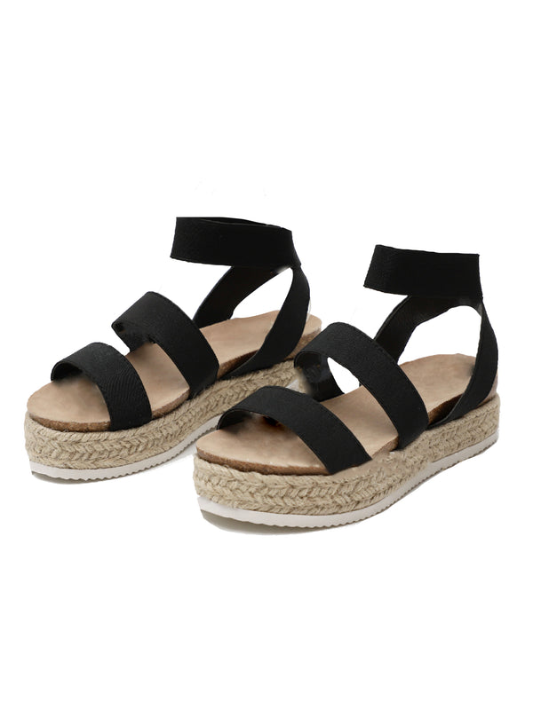 'Vivian' Strapped Platform Espadrille Sandals (4 Colors)