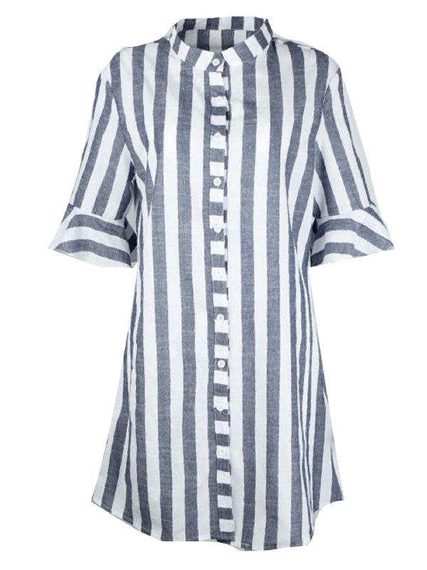 'Caroline' Striped Shirt Dress