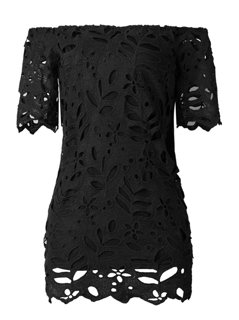 'Natalia' Lace Off the Shoulder Mini Dress (4 Colors)