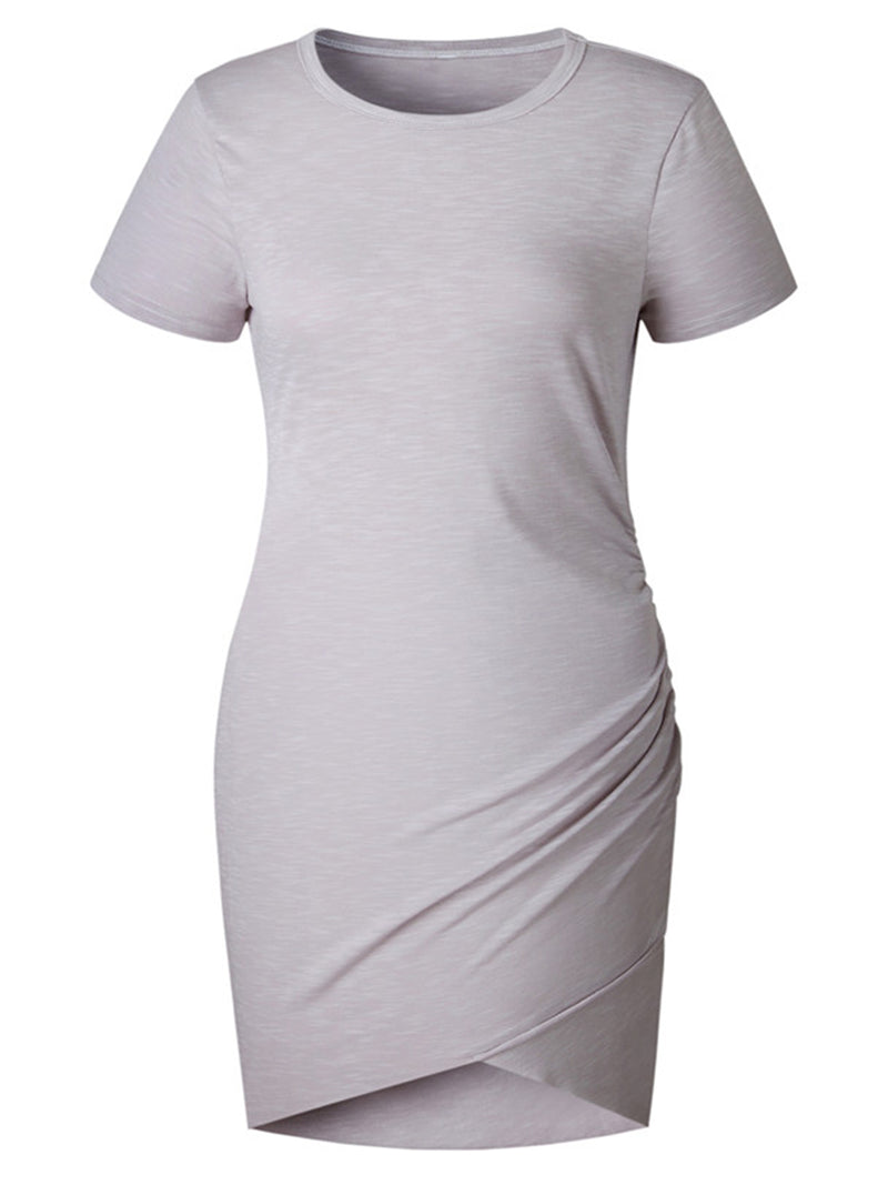 'Valerie' Short sleeves T-Shirt Mini Dress (8 Colors)